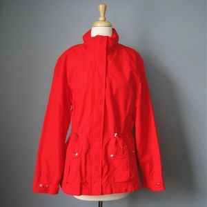 Lands End Jacket Size XL 14 - 16 Red Squall Rainco